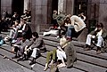 People on the steps of Konserthuset, Stockholm (1965).jpg