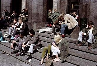1960s in Western fashion - Swedish beatniks, 1965
