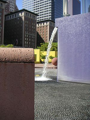 Ricardo Legorreta - Fountain in Pershing Square, Los Angeles