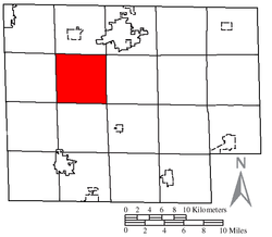 Location of Peru Township in Huron County