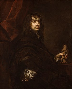 Peter Lely - Self-portrait, oil on canvas, ca. 1660