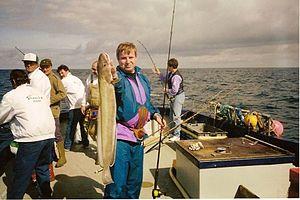 Peter van der Sluijs caught a large ling with a light rod.jpg