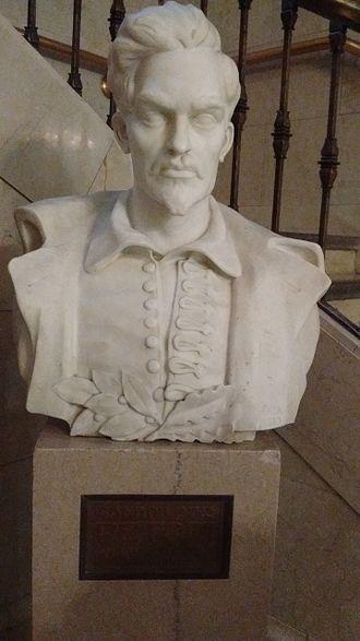 Sándor Petőfi - The bust of Sándor Petőfi at Cleveland Public Library