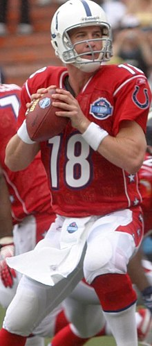 02c8bd814 Peyton Manning was the starting quarterback for the Indianapolis Colts from  1998 until 2011.