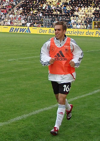 Philipp Lahm - Lahm warming up for Germany in 2006