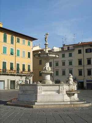 Ulisse Cambi - Fountain sculpted by Ulisse Cambi in Prato (Italy)