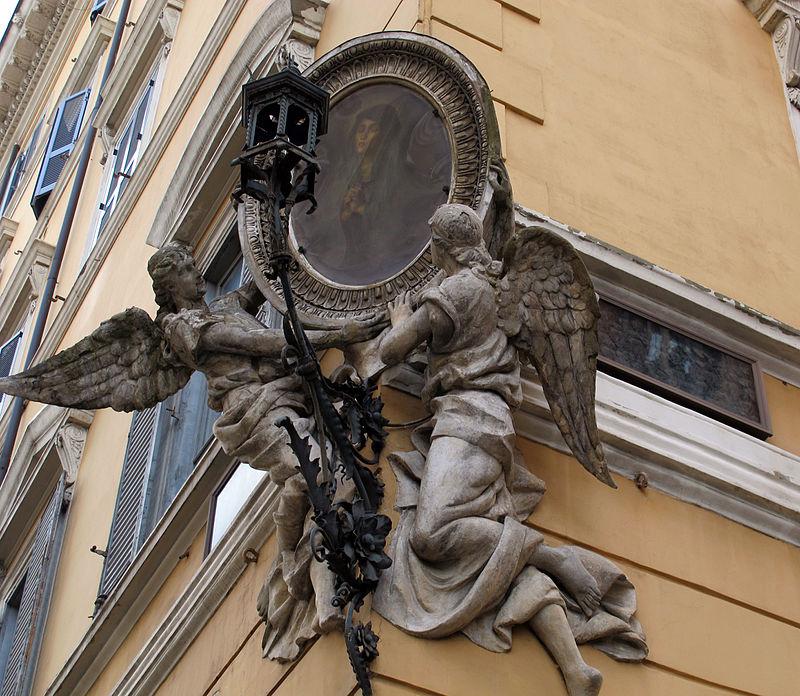 Piazza s. maria maggiore, tabernacolo angolo via paolina.JPG