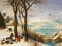 брейгель охотники на снегу фото