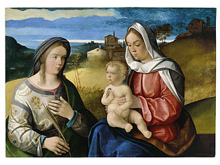 The Virgin and Child with Saint Agnes in a Landscape