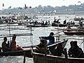 Pilgrims and Seagulls - Magh Mela Festival Sangam Site - Allahabad - Uttar Pradesh - India (12590098074).jpg