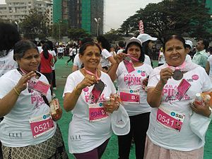 Pinkathon - Women of all ages participating in the marathon