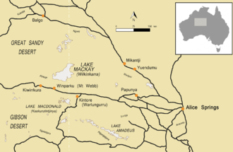 Pintupi dialect - Image: Pintupi country