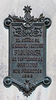 Placa da estatua de Manuel Ventura Figueroa. Santiago de Compostela. Galiza 2013.jpg