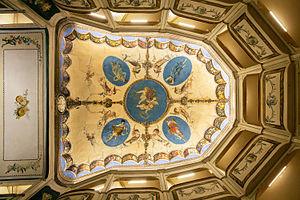 Teatro della Concordia (Monte Castello di Vibio, Italy) - Ceiling fresco by Luigi Agretti.