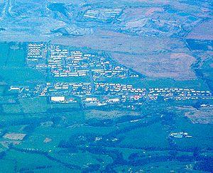Plains, North Lanarkshire - Aerial photograph of Plains (2003)