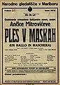 Plakat za predstavo Ples v maskah v Narodnem gledališču v Maribor 31. januarja 1928.jpg