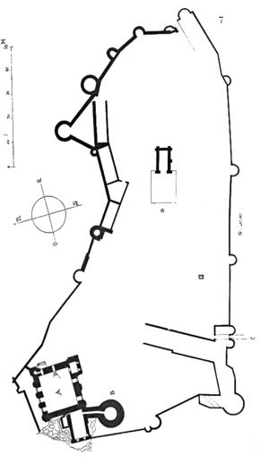 Château de Falaise - Image: Plan.chateau.Falaise