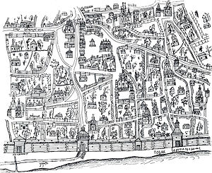 Pechersk, Kiev - Plan of Pechersk creating by Ushakov in 1695