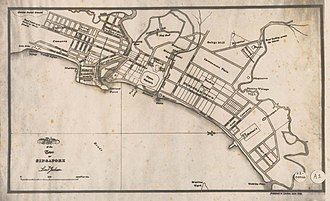 Stamford Raffles - The Plan of the Town of Singapore, or more commonly known as the Jackson Plan