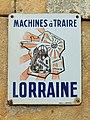 Plaque émaillée des machines à traire Lorraine.jpg