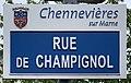 Plaque Rue Champignol - Chennevières-sur-Marne (FR94) - 2021-05-05 - 1.jpg