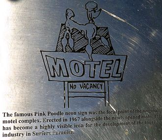 The Pink Poodle - Plaque, 2015