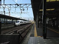Platform of Nagasaki Station 20150926-2.JPG