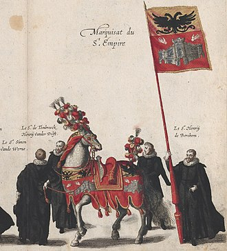 Margraviate of Antwerp - the Marquess of Antwerp symbolised in the funeral procession of Albert VII