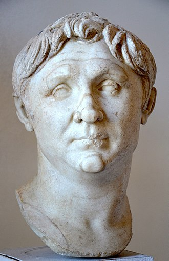 Marcus Licinius Crassus - A Roman bust of Pompey the Great made during the reign of Augustus (27 BC - 14 AD), a copy of an original bust from 70-60 BC, Venice National Archaeological Museum, Italy