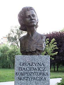 Grazyna Bacewicz (1909-1969) - Page 2 220px-Popiersie_Gra%C5%BCyna_Bacewicz_ssj_20110627