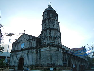 Porac, Pampanga - Façade of Santa Catalina de Alexandria Parish Church