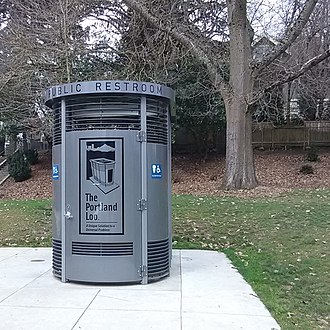 Portland Loo - Portland Loo at Colonel Summers Park. This unit is fitted with a sharps disposal option. It was placed into service in September, 2017.