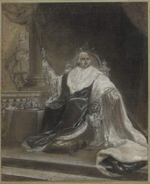 François Souchon - Image: Portrait de Louis XVIII en costume de sacre, François Souchon
