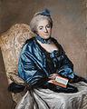 Portrait einer Dame mit Buch Frankreich c1770.jpg