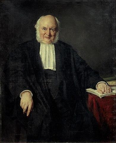 Schilderij van Nicolas Beets door Thérèse Schwartze (1881)