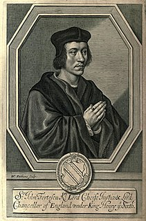 John Fortescue (judge) Chief Justice of the Kings Bench of England