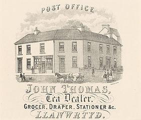 Post Office, Llanwrtyd. John Thomas, Tea Dealer