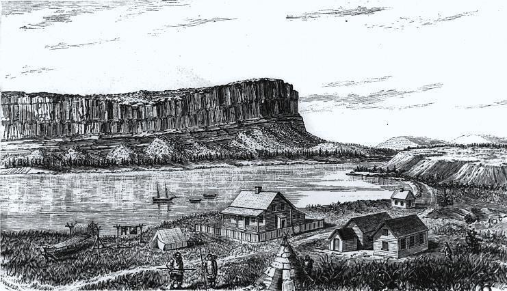 Poste de North Bluff Petite riviere de la Baleine 1878