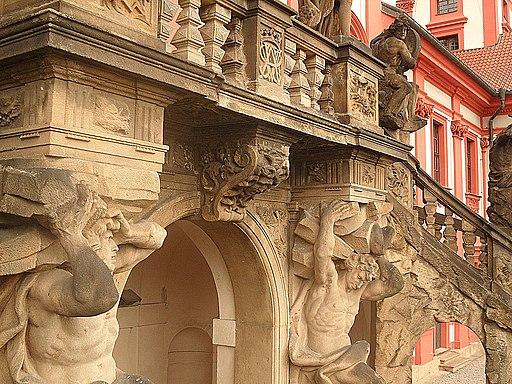 Prag Troja Gartentreppe Detail 201610