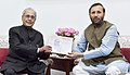 "Prakash Javadekar presenting a copy of the book ""Guru-Sangraha"" (a compilation of convocation addresses given by President Shri Pranab Mukherjee), to the former President of India, Shri Pranab Mukherjee in New Delhi.jpg"