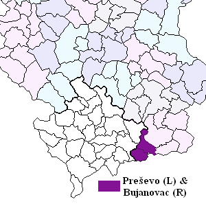 Preševo Valley - Municipalities of Preševo and Bujanovac