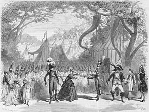 La Grande-Duchesse de Gérolstein - Press illustration of Act 1 in the original production