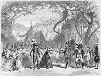La Grande-Duchesse de Gérolstein - Press illustration of Act 1 in the original production