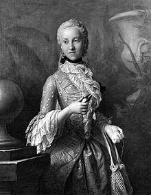 Maria Kunigunde von Sachsen im Hofkostüm beim Aufwickeln eines Fadens (Quelle: Wikimedia)