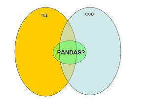 A venn diagram that depicts the PANDAS definit...