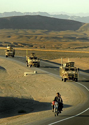 Kabul–Kandahar Highway - Kabul-Kandahar Highway at Zabul Province in southern Afghanistan (October 2012)