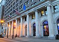 Public Ledger Building colonnade from north at twilight.jpg