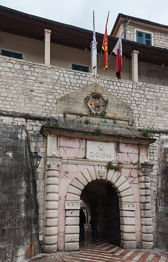 Kotor - Maritime Gate in the city walls.