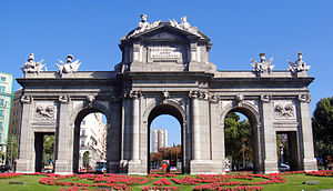 Spanish nationalism - The Puerta de Alcalá in Madrid.