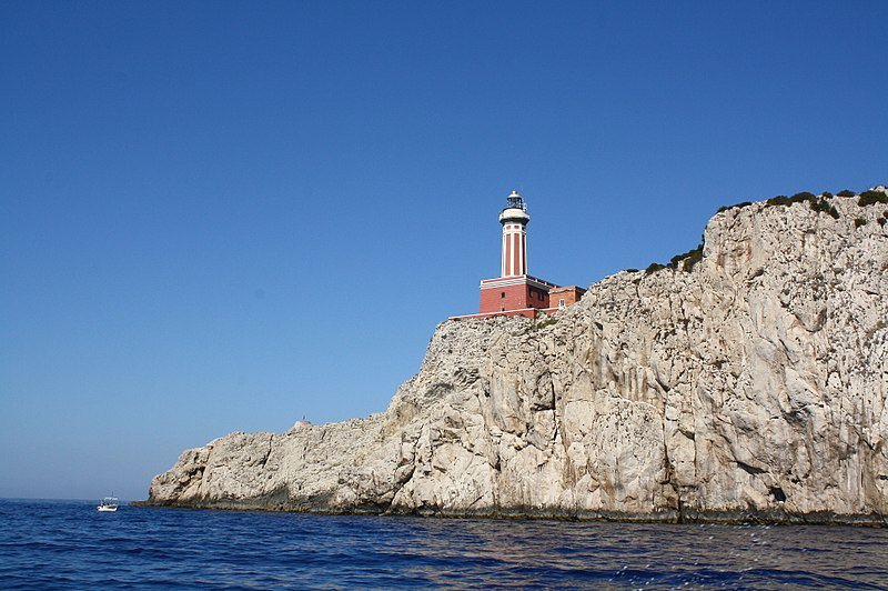 File:Punta Carena Lighthouse, view from the sea.jpg